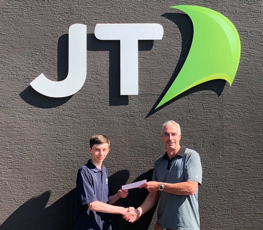 Unexpected bursary boost for JT digital intern